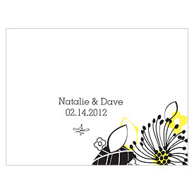 Floral Fusion Wedding Note Card