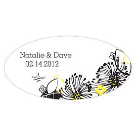 Floral Fusion Small Wedding Window Cling