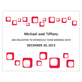square wedding save the date stationery