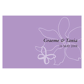 Butterfly Dreams Large Rectangular Wedding Favor Tag and Place Card