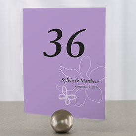 Butterfly Dreams Wedding Reception Table Number