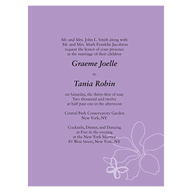 Butterfly Dreams Wedding Invitation Stationery