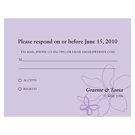 Butterfly Dreams Wedding  RSVP Card