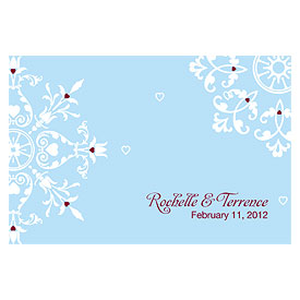 Winter Romance Large Rectangular Wedding Favor Tag