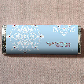 Winter Romance Chocolate Bar Wedding Favor
