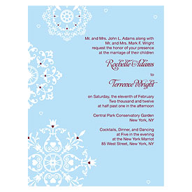 Winter Romance Wedding Invitation