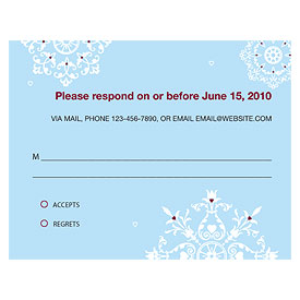 Winter Romance Wedding  RSVP Card