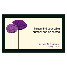Romantic Elegance Wedding Reception Escort Table Sign Card