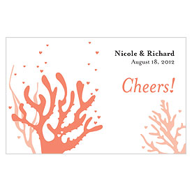Coral Reef Large Wedding Drink Ticket