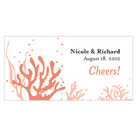 Coral Reef Small Wedding Drink Ticket