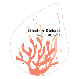 Coral Reef Large Wedding Window Cling