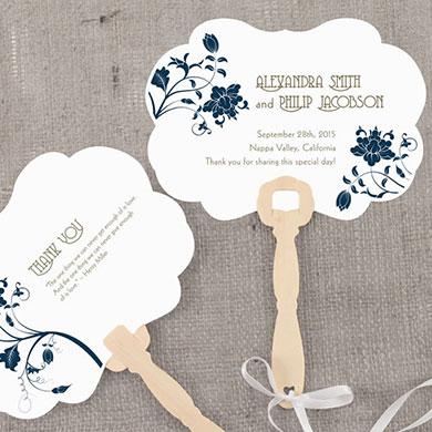 Floral Orchestra Hand Fan Wedding Favor