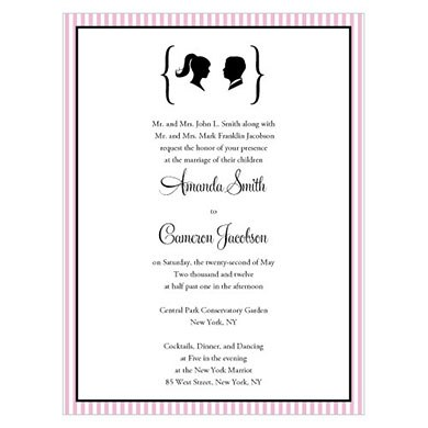 Sweet Silhouettes Wedding Invitation Stationery