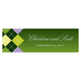 Golf Small Rectangular Favor Tags