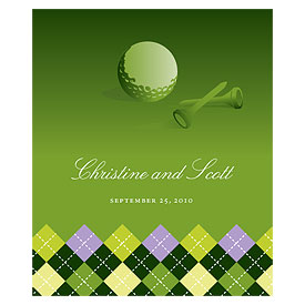 Golf Rectangular Wedding Labels