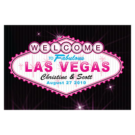 Las Vegas Large Rectangular Favor Tags