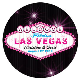Las Vegas Small Wedding Stickers
