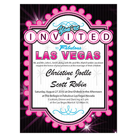 Las Vegas Wedding Invitation