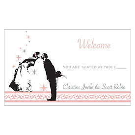 Vintage Hollywood Wedding Reception Escort Table Sign Card