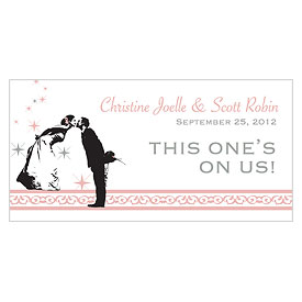 Vintage Hollywood Small Wedding Drink Ticket