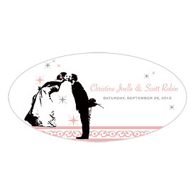 Vintage Hollywood Large Wedding Window Cling