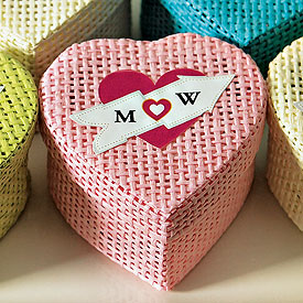 Heart Favor Sticker for Woven Boxes