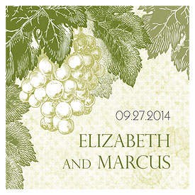 A Wine Romance Wedding Square Tag