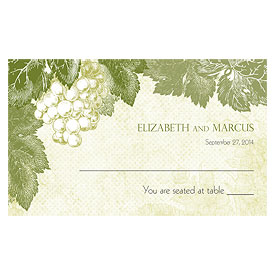 A Wine Romance Wedding Escort Table Sign Card