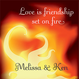 Friendship on Fire Wedding Stationery Card