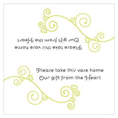 Small Instructions Wedding Card