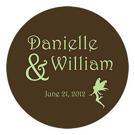Fairytale Charm Small Wedding favor Sticker