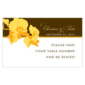 Orchid Glamour Wedding Reception Escort Table Sign Card