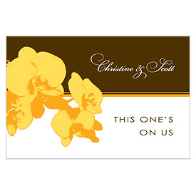 Orchid Glamour Large Wedding Reception Drink Ticket