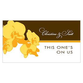 Orchid Glamour Small Wedding Reception Drink Ticket