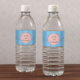 Whimsical Garden Wedding Water Bottle Label