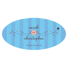 Whimsical Garden Small Wedding Window Cling