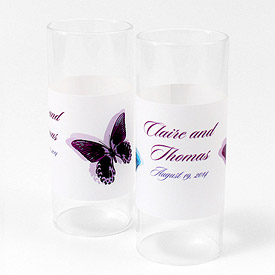 Beautiful Butterflies Mini Luminary Votive Candle Wrap