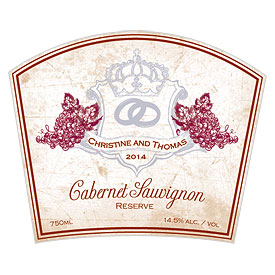 Aged Vineyard Rectangular Favor Label