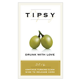 Tipsy Wedding Favor Label