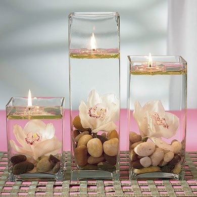 Wedding Water Candles Accessory