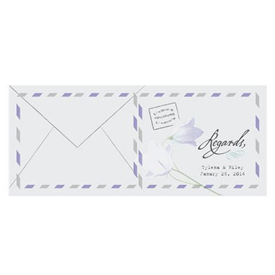 L'amour Bluebell Folded Note Card