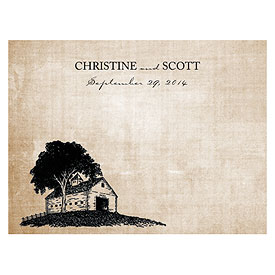 Rustic Country Wedding Note Card