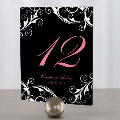 Classic Orchid Wedding Table Number