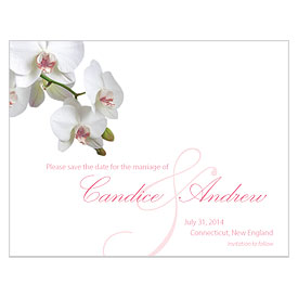 Classic Orchid Save The Date Wedding Card