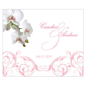 Classic Orchid Rectangular Wedding Label