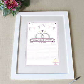 Homespun Charm Personalized Signature Wedding Certificate