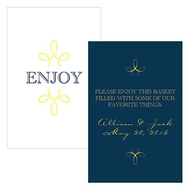 Enjoy Thank you Wedding Rectangular Card