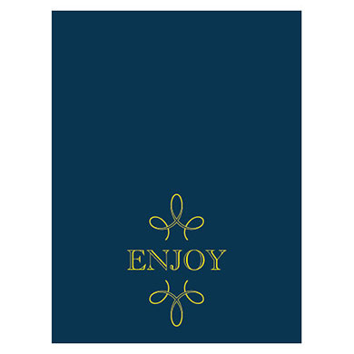 Enjoy Thank you Blank Wedding Tent Card