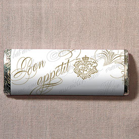 Parisian Love Letter Wedding Nut Free Gourmet Milk Chocolate Bar