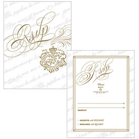 Parisian Love Letter Wedding RSVP
